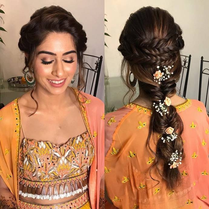 Indian Party Hairstyles: Party Hairstyles For Medium Hair With Saree