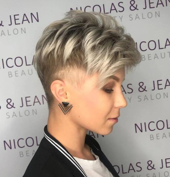 Icy Blonde Hairstyle and An Undercut