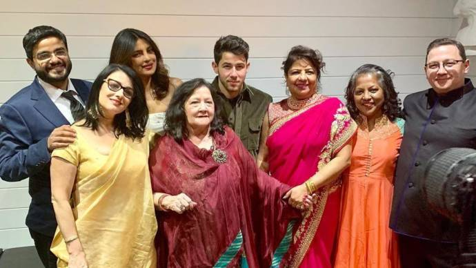 Priyanka chopra and Nick Jonas 4th reception pictures