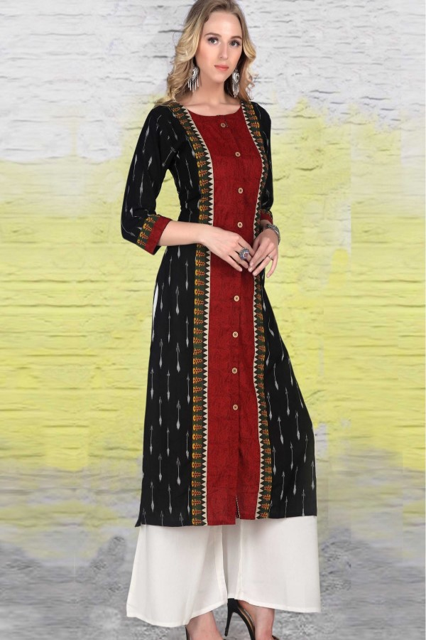 Red and Black Classic kurti