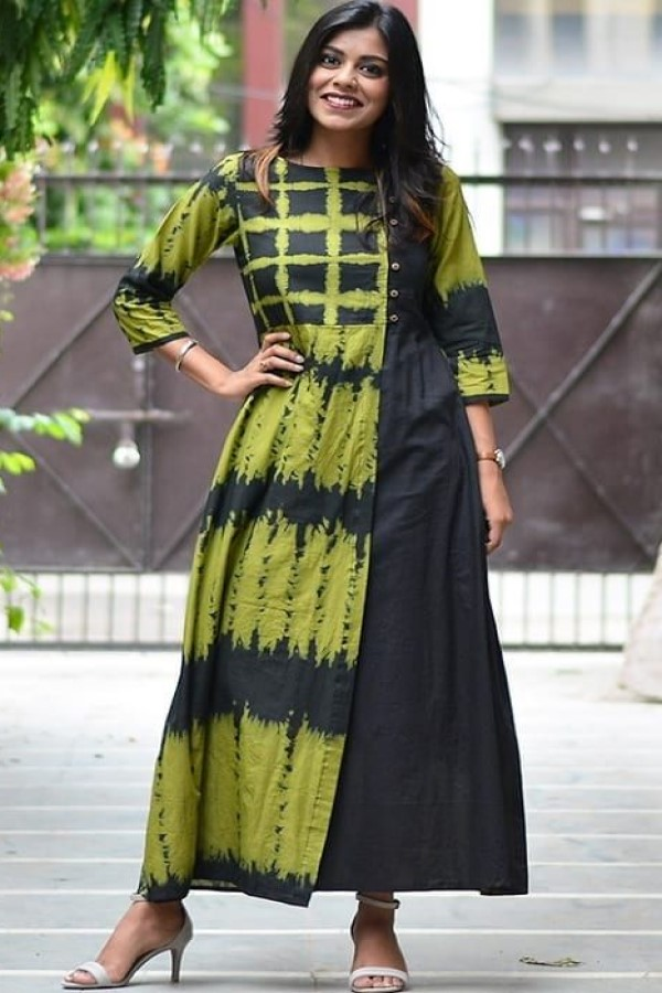 Stunning Green and black Kurti