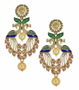 Always In- peacock earrings