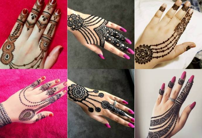 Back Hand Jewellery Mehndi Designs Collection 2019