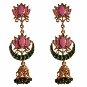 Eye catching Meenakari earrings
