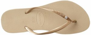 Havaianas Slim Crystal Glamour Flip Flops for Women