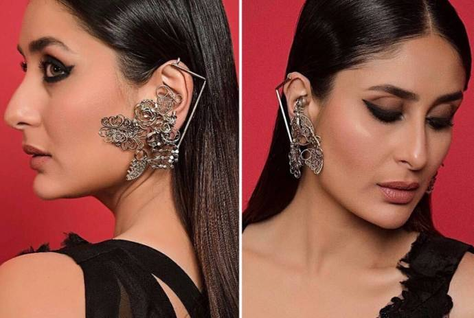 The Silver toned swirl tribal ear cuffs