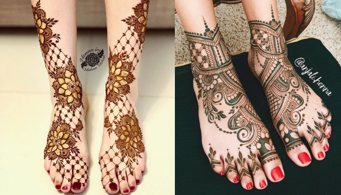 Floral / Flower mehndi designs