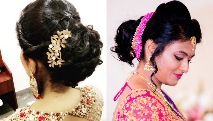 Beautiful Hair Bun Styles for Saree