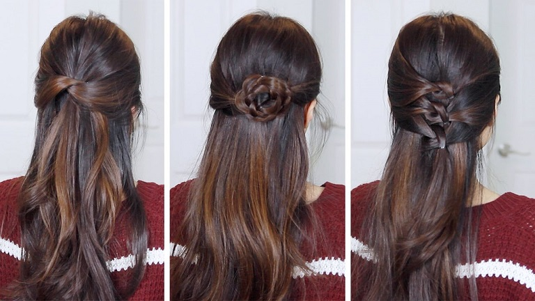 Half Up Half Down Hairstyles for Women