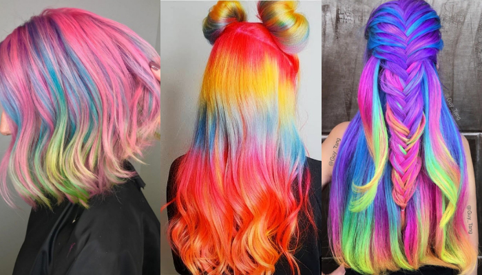 Amazing Rainbow Hairstyle & Haircut Ideas