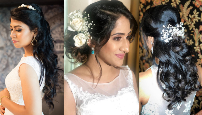 Beautiful Indian Wedding Hairstyles for Your Lovely Christian Gown