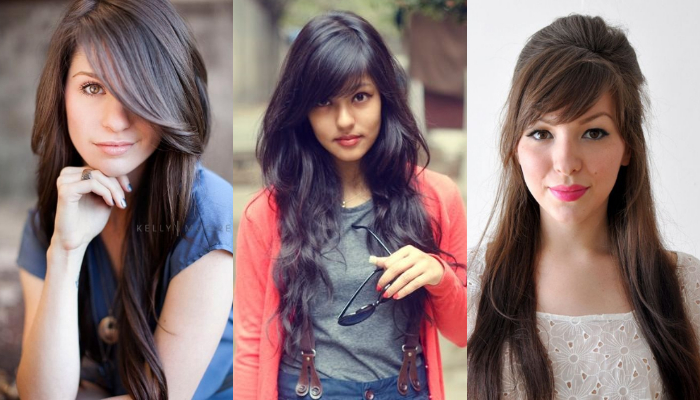 Style Your Long Hair with These Beautiful Layered Hairstyles & Haircuts Having Side Fringe