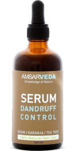 Amsarveda 100% Natural Dandruff Control Serum with Neem, Karanja Tea Tree