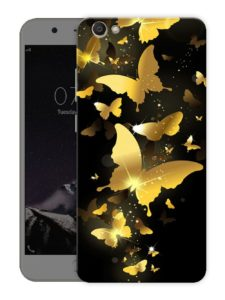 Casotec Golden Butterfly Pattern Print Design Hard Back Case Cover for Apple iPhone 6 / 6S