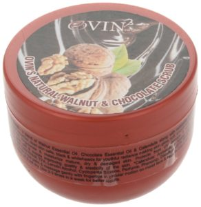 Ovin Gentle Walnut Chocolate Facial & Body Scrub, Transparent , 100 Grams