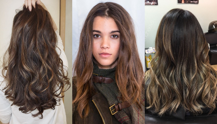 Brown Hairstyles with Lowlights