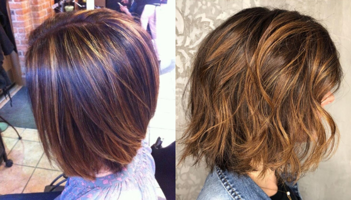 Latest short hairstyles with beautiful highlights and lowlights