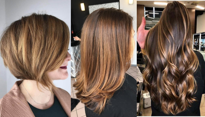 Hairstyles & haircuts for hair with golden brown highlights