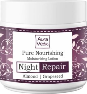 Auravedic Nourishing Night Lotion, Almond & Grapeseed