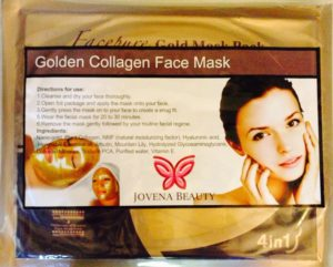 Jovena Beauty Gold Collagen Face Mask for Anti Aging