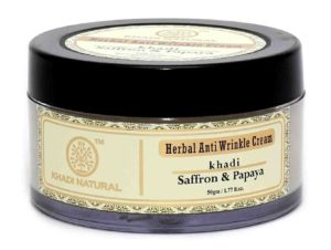 Khadi Saffron and Papaya Anti Wrinkle Cream