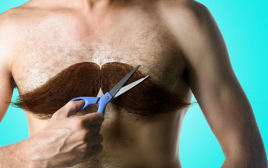 Waxing male chest hair2