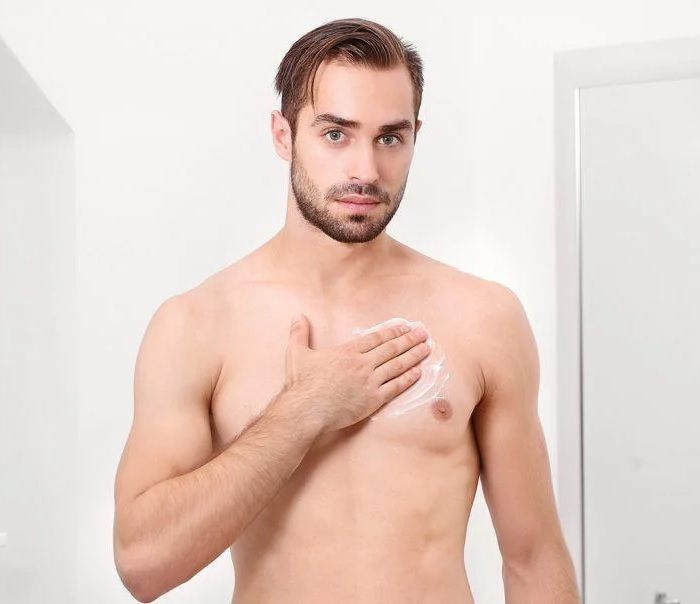 Waxing male chest hair6