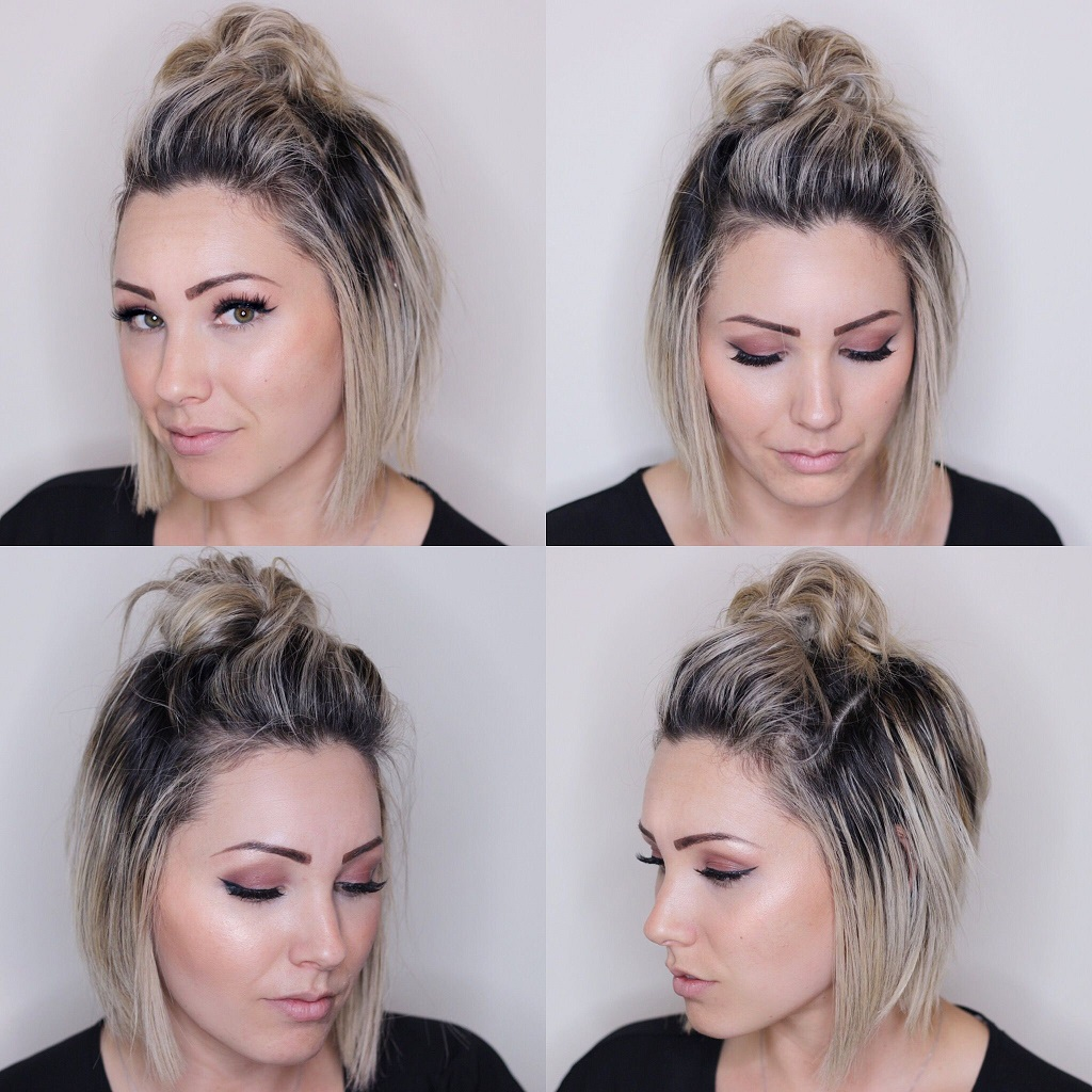 Chin-length waves with a topknot